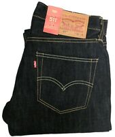 Levi's 511 Men's Premium Slim Fit Selvedge Denim Blue Levis Jeans #1472