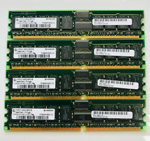 4GB - HYS72D128300GBR-5-B - Infineon 4x1GB 3200R ECC/Registered DDR400 CL3