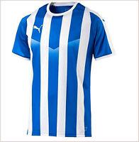 Puma ropa deportiva hombre futbol camiseta jersey entrenamiento azul rayas XXL