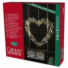 LUMIDA Xmas 50/% Herzen aus Tannenzapfen Timerfunktion 2-tlg.