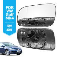 Left Hand Passenger Side For VW Golf Mk4 1997-03 HEATED  Wing Door Mirror Glass