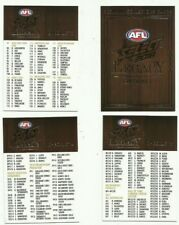 2018 afl select LEGACY SERIES 2 CHECKLIST COMMON SET 4 cards