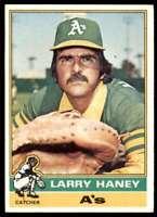 1976 Topps Larry Haney Oakland Athletics #446