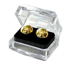 Solid Steel Golden Metal Balls Duo Ben Wa Personal Kegal Exerciser Acrylic Boxed