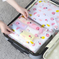 New 3PCS  Resealable Travel Packing Bags Clothes Shoe Storage Seal Bag AU