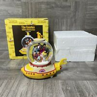 "The Beatles Yellow Submarine ""Pepperland"" Snow Globe 1999 With Box"