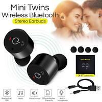 Mini Sport Oreillette écouteur Casque Bluetooth 4.1 TWS Sans fil Stéréo Mic