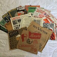 Vintage Lot Ephemera Altered Art Scrapbooking Card Craft MUSIC
