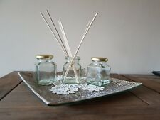 Aromatherapy diffuser starter set with 3x8oz empty jars and 21 rattan reeds.