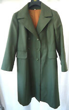 Ladies Rain Trench Coat Green Scotch Guard Size 22 Vintage 70's EMO Goth Punk