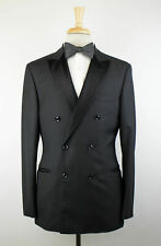 9349bdeea37528 NWT BRUNELLO CUCINELLI Gray Wool Blend Satin Trim DB Tuxedo Suit 50/40 R  $4295