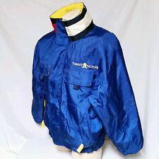 VTG Tommy Hilfiger Jacket 90's Crest Spell Out Colorblock Ski Lotus Coat Flag XL