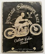 Vintage Retro Black/Grey Speedmaster Race Motorbike Metal Plaque/Sign 25x20cm