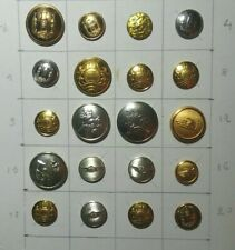 20 military or civilian uniform buttons from Denmark