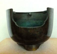 Japanese Bronze Tea Ceremony Vintage Scarce Utensil Brazier Hibachi C.1930's