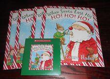 When Santa Lost His Ho! Ho! Ho! L Rader Scholastic Listening Center 4 Books w/CD