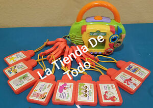 9 CARTRIDGE & RADIO PLAYER LOT FOR SESAME STREET TUNES KID CLIPS KIDCLIPS READ