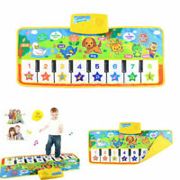 Musical Kid Piano Baby Play Mat Animal Music Educational Soft Kick Toy Learning