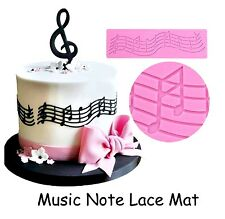 Music Note Sheet Music Staff Treble Clef Silicone Mat Mould Cake Decoration