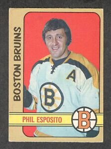 1972-73 PHIL ESPOSITO #111 VG+ OPC * Boston Bruins HALL OF FAME Star Hockey Card