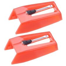 Durable 2pcs Turntable Needles Ruby Tip Retro Record Player Stylus Universal