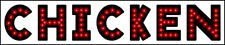 """NEW Generation CHICKEN open LED neon SIGN LED 26""""X 5"""""""
