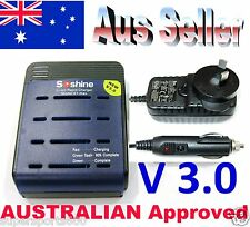 Soshine 18650 AU S1 max-III (Ver 3) Rapid Charger for 1 - 4 Lithium ion Battery