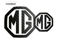MG ZS ZR LE500 Style Badge Insert 59mm 95mm Black Carbon White Badges Front Rear