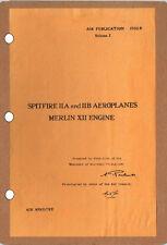 SPITFIRE IIA/IIB TECH MANUAL AP1565B Vol.1: 250+pps A3 CUTAWAY & FREE INFO PACK