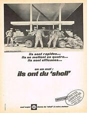 PUBLICITE  1968   SHELL   carburation nouvel additif