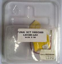 FUNAI SCT 1000/3000 3,6v/280 mAh art.nr.s190 NI-CD BATTERIA