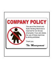 Fat Joke, Plastic Funny Business Sign, L@@K*adult xxx