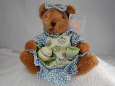 Russ Berrie Cozy Kitchen Collection Bear with Teapot & Cup
