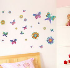 Colorful butterfly-2 wall decals Removable stickers home decor kids nursery art