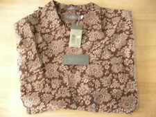 $79 DANIEL CREMIEUX SIGNATURE MEN M COTTON Brown BUTTON DOWN SHIRT SS NWT