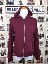 Brandy Melville SUPER SOFT Maroon Hooded Kassidy Hoodie Zip Up Sweatshirt Nwt