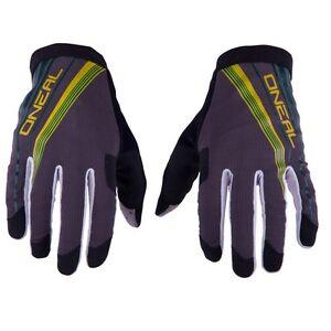 O'Neal AMX Lightweight Men's Cycling Full Finger Gloves  Green Yellow Size L/9