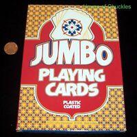 """Jumbo Playing Cards - Plastic Coated - Big - Giant - Large 4.75"""" x 6.75"""""""
