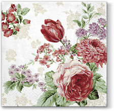 20 Lunch Paper Napkins MYSTERIOUS ROSES Decoration DECOUPAGE SHABBY CHIC