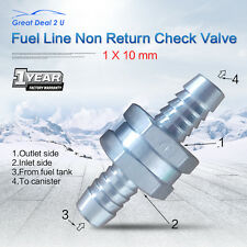 "Aluminium Alloy 10mm 3/8"" One Way Check Valve Non-Return Fuel Petrol Oil Water"