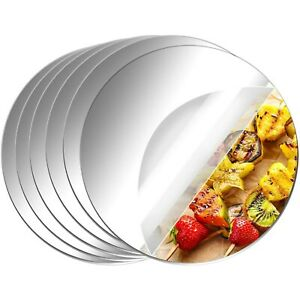 Spiegel Rund Scheiben aus Acrylglas Runde Plexiglas Kreis Basteln Silber Deko