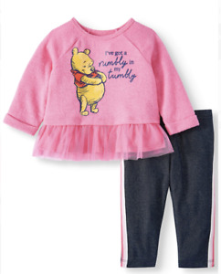 Winnie the Pooh Baby Toddler Girl Outfit Rumbly Tumbly NWT 3 6 9 12 18 Disney