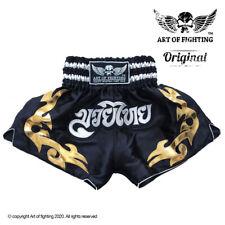 Kids Muay Thai Shorts Black. Art of Fighting. Ages 3-12 yr. Handmade in Thailand