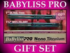 "BABYLISS PRO 1"" ULTRA THIN NANO TITANIUM 1 1/2"" WET TO DRY 450° FLAT IRON COMBO"