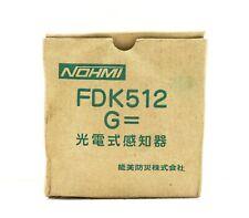 Nohmi FDK512 Óptico Detector de Humo
