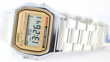 Casio Classic Digital Stainless Steel Alarm Stopwatch Casual Watch A158WEA-9 New