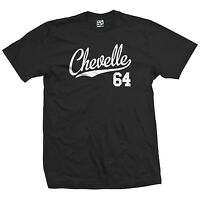 Chevelle 64 Script Tail Shirt - 1964 Classic Muscle Race Car - All Size & Colors