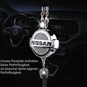 Car diamond logo Parfüm Lufter frischer Parfüm Anhänger Fit für Nissan Auto