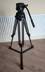 Manfrotto 525 MVB, 2 stage Video Tripod with 501 HDV Fluid Head with Spreader