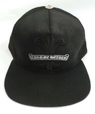 Chrome Hearts All Black Trucker Baseball Cap Hat Fleur De Lis One Size 53-60 f848e38be853